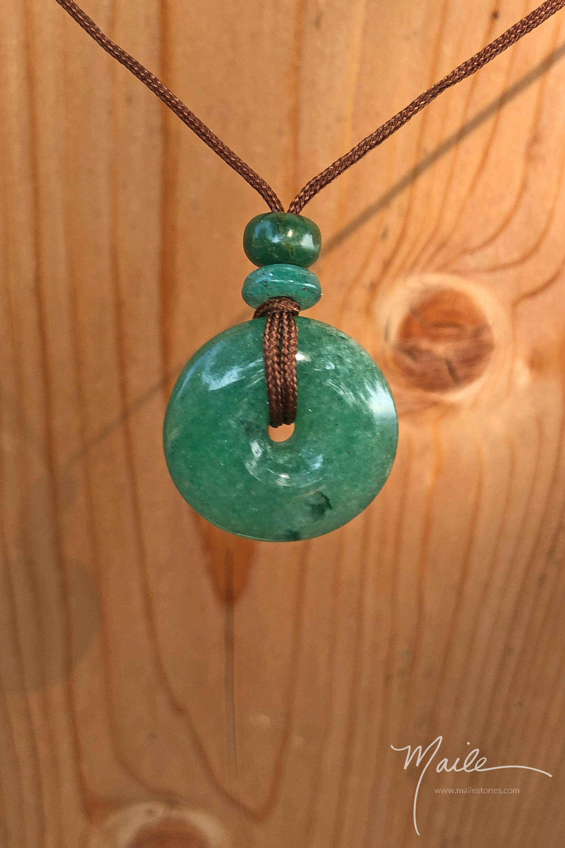 Green Aventurine Torus Love Bead