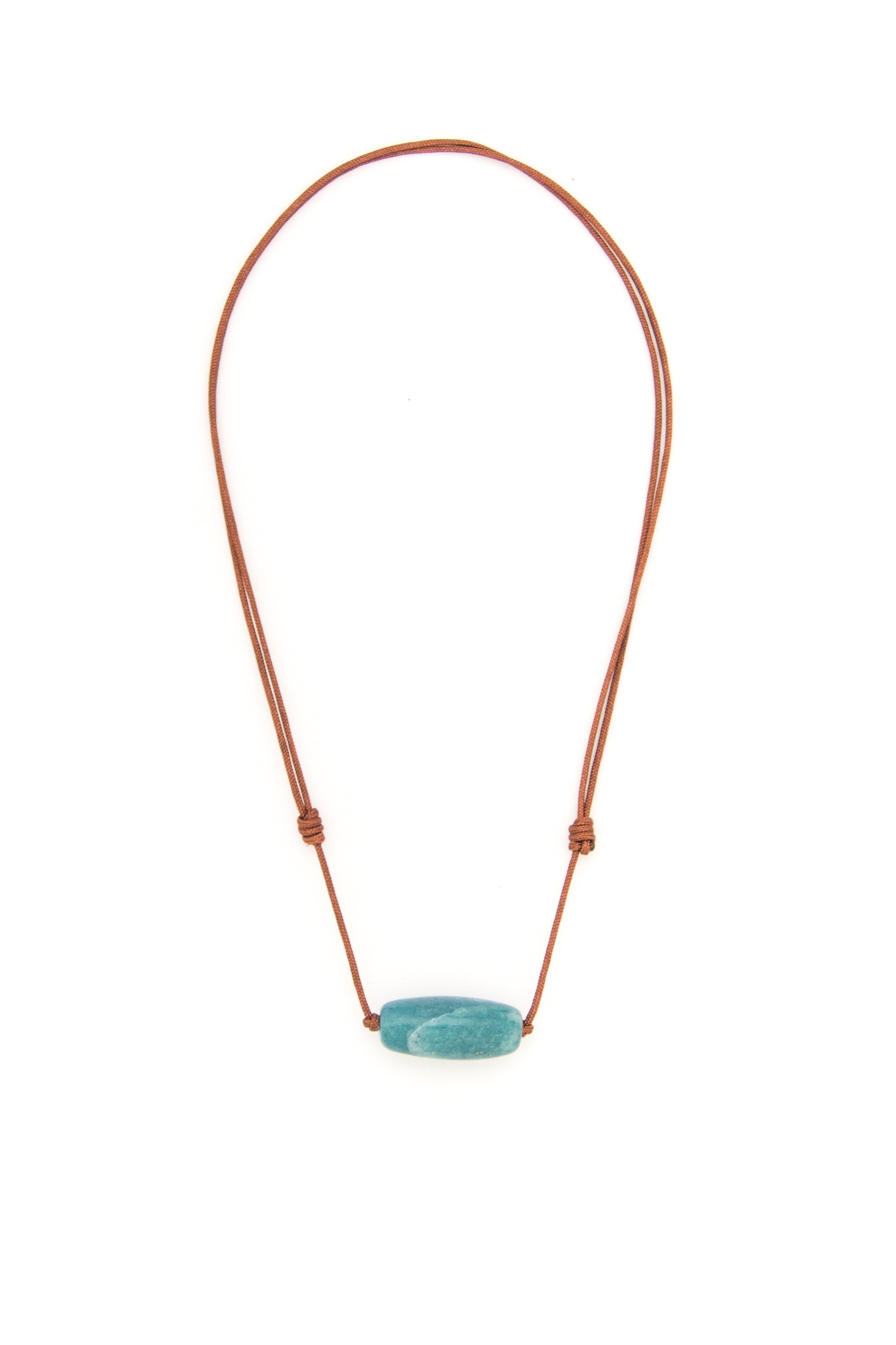 Men's Aqua Aventurine Barrel Bead
