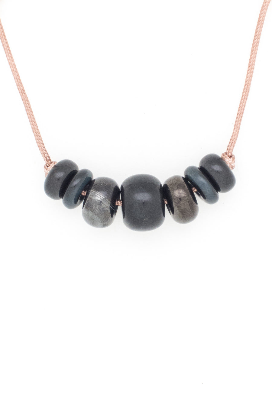 Black Tourmaline & Friends Love Bead Necklace