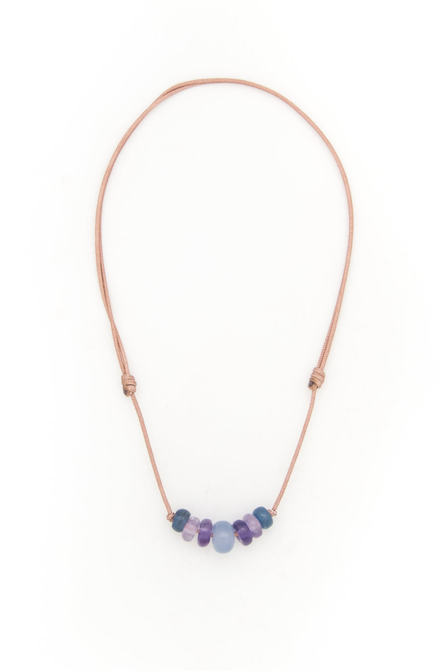 Blue Chalcedony & Friends Love Bead Necklace