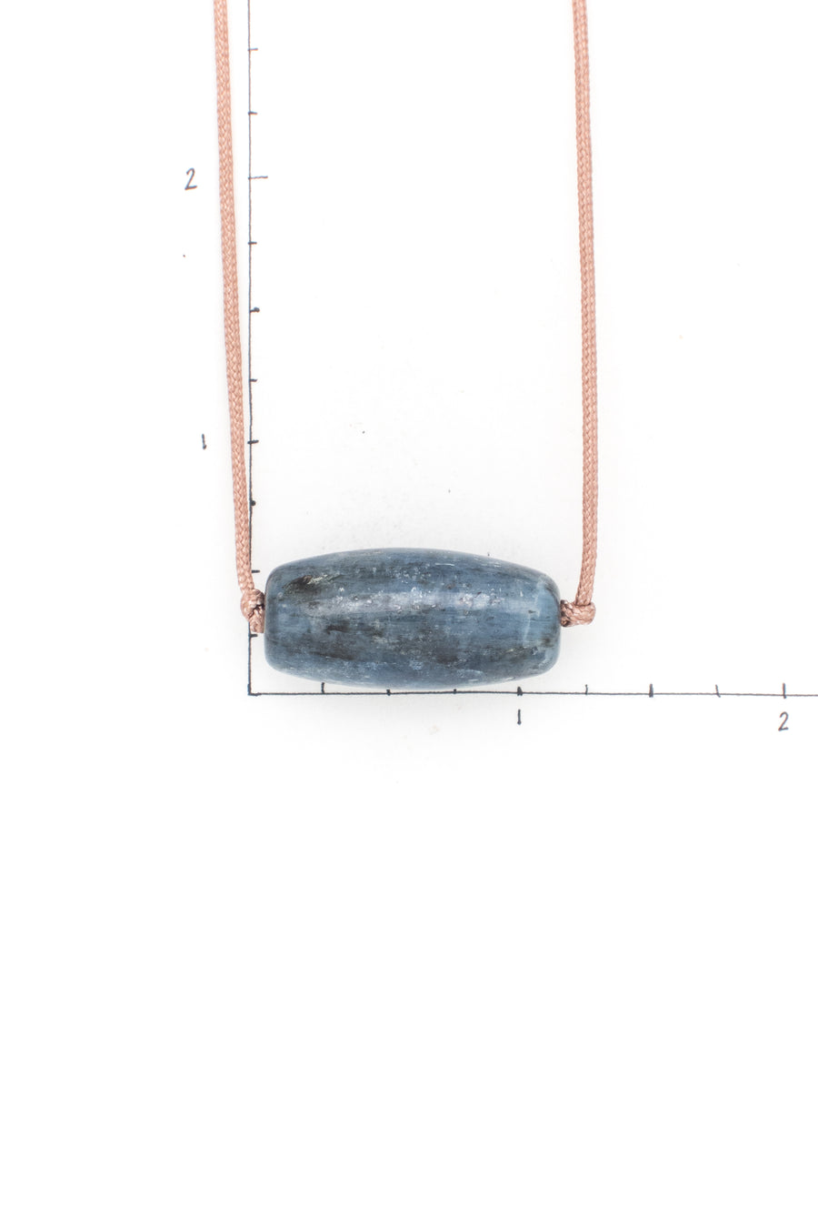 Men's Kyanite Barrel Bead