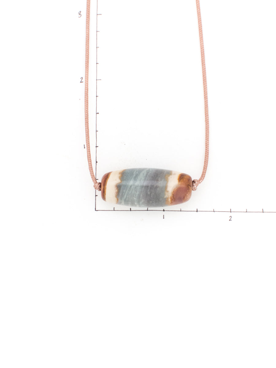 Men's Polychrome Jasper Barrel Bead