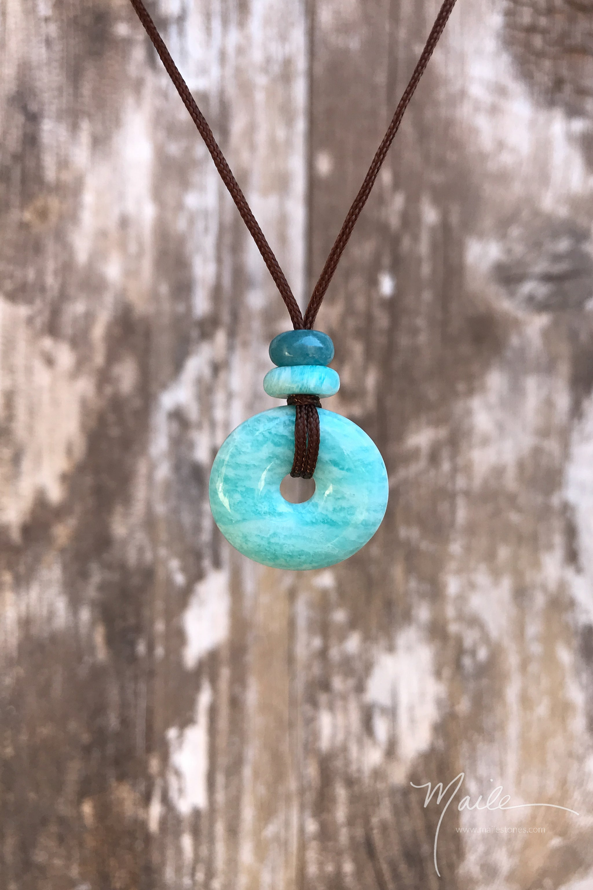 Amazonite Torus Love Bead