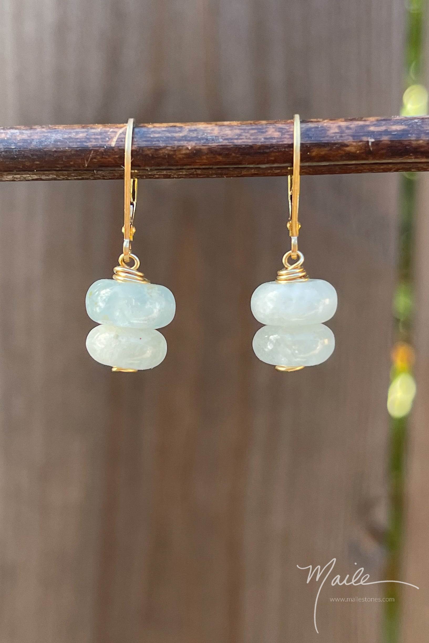 Light Aquamarine Earrings