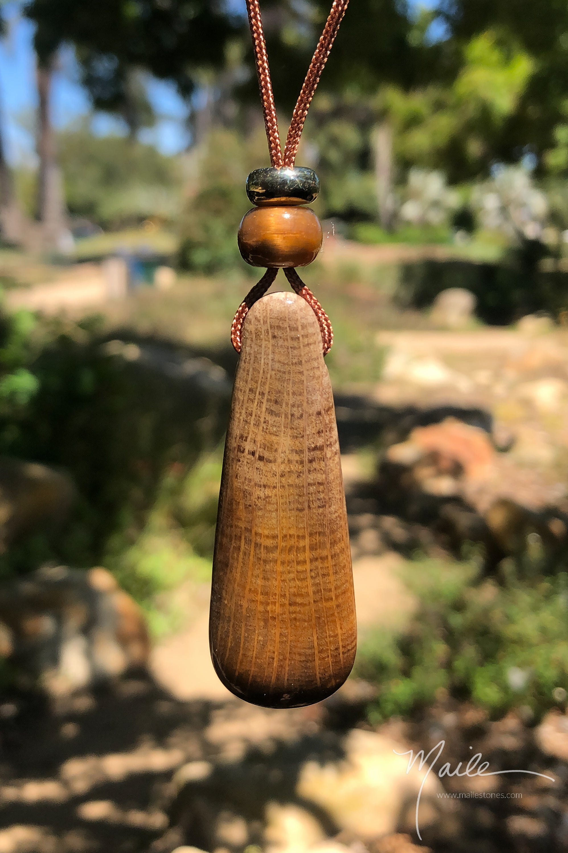 Petrified Elm Wood Pendant