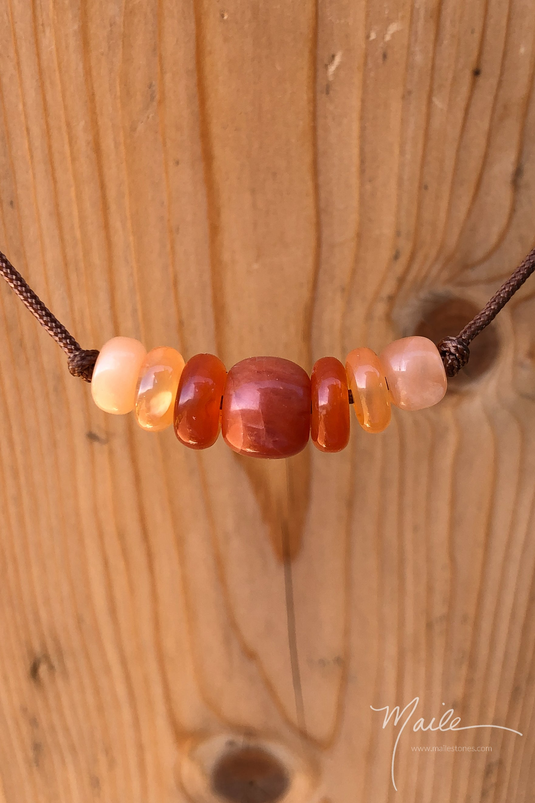 Orange Aventurine & Friends Love Bead Necklace