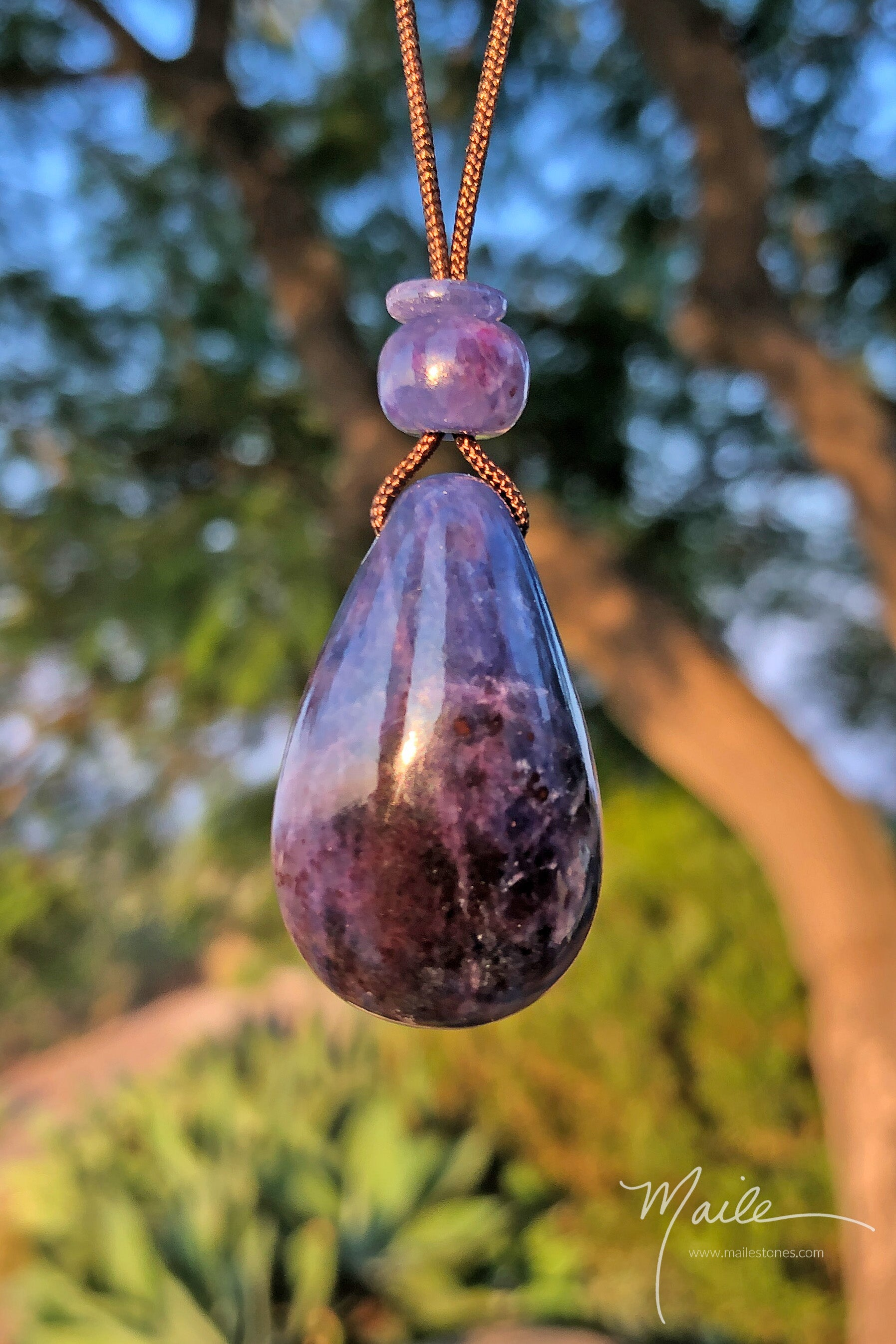 Sugilite Included Richterite Pendant