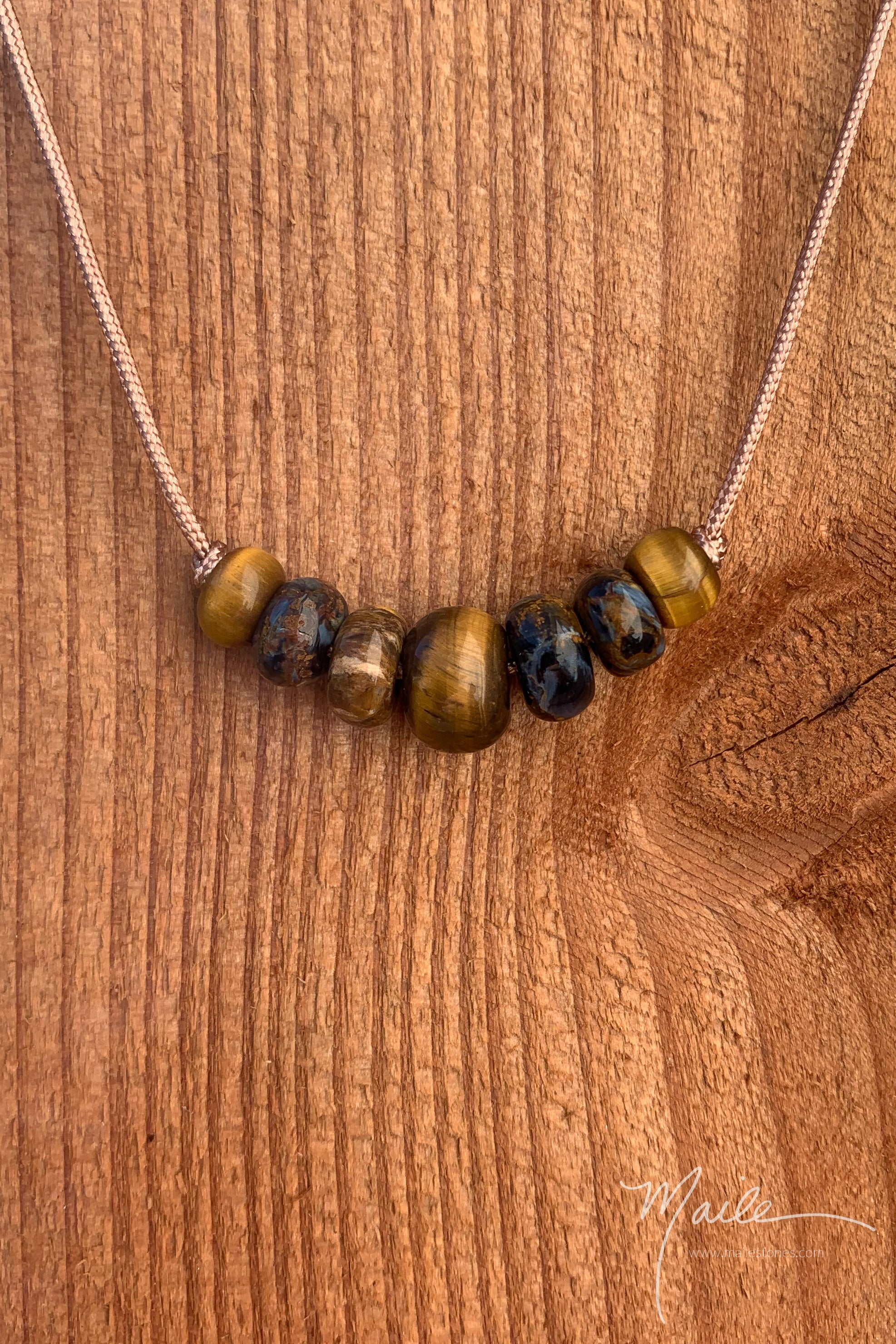 Tiger's Eye & Friends Love Bead Necklace