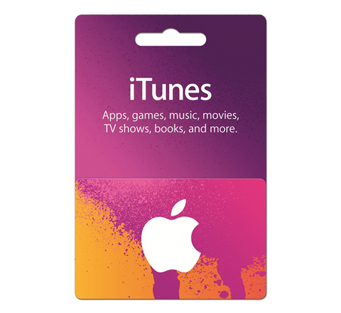 iTunes Gift Card - email delivery, no activation fee