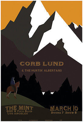 MINT ORIGINAL CORB LUND &THE HURTIN' ALBERTANS THE MINT LOS ANGELES  POSTER JC63