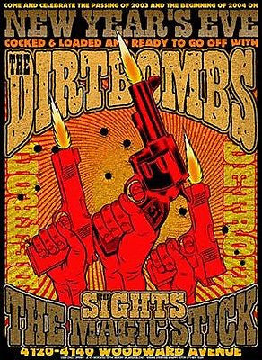 MINT DIRTBOMBS DETROIT NEW YEARS EVE '03 CONCERT POSTER