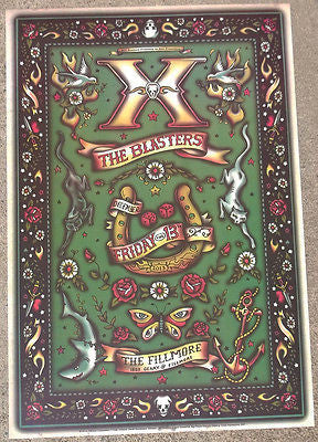 KILLER PUNK LEGENDS X THE BLASTERS SAN FRANCISCO FILLMORE CONCERT POSTER BGF1238