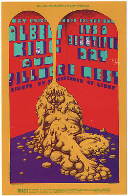 VERY PSYCHEDELIC 1969 ALBERT KING AUM  FILLMORE CONCERT POSTCARD BG172 CONKLIN