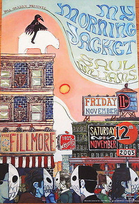 OUTSTANDING  NICE MINT 2005 MY MORNING JACKET FILLMORE CONCERT POSTER BGF728