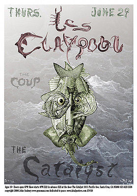 CLEVERLY DESIGNED MINT SIGNED & NUMBERED LES CLAYPOOL SANTA CRUZ CONCERT POSTER