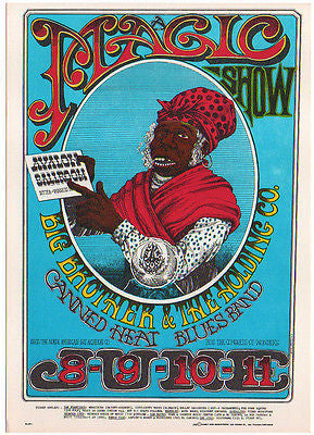 MINT 1967 BIG BROTHER JANIS JOPLIN FAMILY DOG CONCERT POSTCARD FD65 RICK GRIFFIN