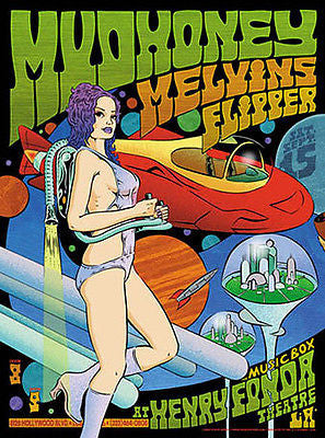 MELVINS MUDHONEY FLIPPER HOLLYWOOD CONCERT POSTER SET SIGNED & #d SPERRY JC51-52