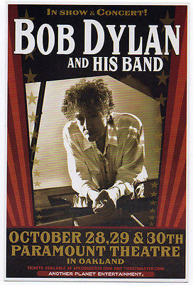 MINT 2014 BOB DYLAN AND HIS BAND OAKLAND CA PARAMOUNT THEATRE CONCERT HANDBILL