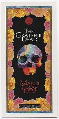 MINT 1995 GRATEFUL DEAD OAKLAND CA THE VERY LAST MARDI GRAS CONCERT HANDBILL