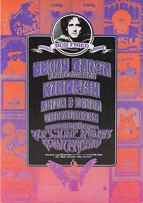 MINT '75 JERRY GARCIA BOB FRIED MEMORIAL BOOGIE CONCERT HANDBILL PINK VERSION
