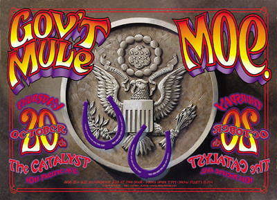 MINT 05 GOV'T MULE MOE. IN SANTA CRUZ AT THE CATALYST CONCERT POSTER RANDY TUTEN