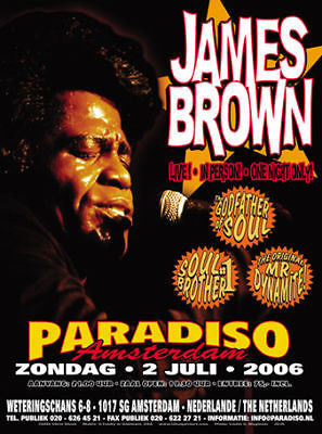 AMAZING FUNKY MINT JAMES BROWN AMSTERDAM CONCERT POSTER