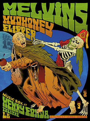 MINT MUDHONEY MELVINS FLIPPER HOLLYWOOD SHOW POSTER #2