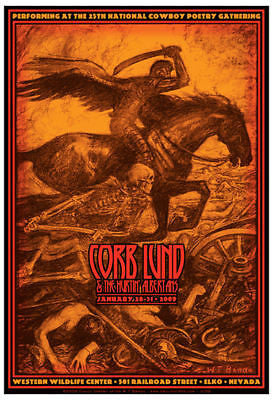 MINT 09 CORB LUND & THE HURTIN' ALBERTANS ELKO, NV HORSE SOLDIER TOUR GIG POSTER