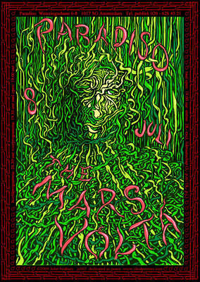 CURIOUSLY PSYCHEDELIC MINT 2009 THE MARS VOLTA AMSTERDAM HOLLAND SHOW POSTER