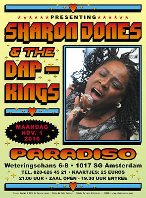 SHARON JONES and the DAP-KINGS AMSTERDAM CONCERT POSTER
