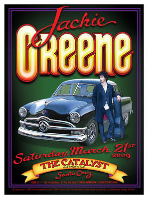 AWESOME MINT 09 JACKIE GREENE SANTA CRUZ CONCERT POSTER RANDY TUTEN DESIGN JC064