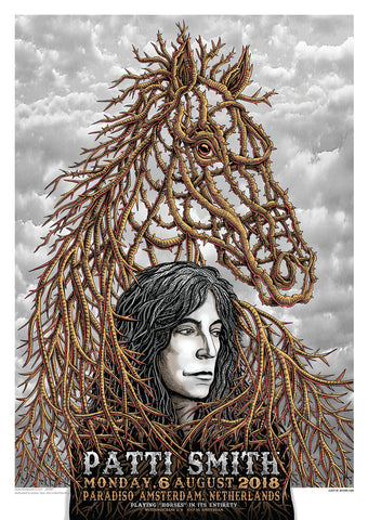 BEAUTIFUL PATTI SMITH AMSTERDAM CONCERT POSTCARD EMEK NIGHT ONE