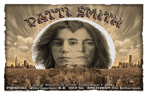 BEAUTIFUL PATTI SMITH AMSTERDAM CONCERT POSTCARD EMEK NIGHT TWO