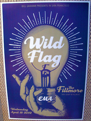 NICE AND MINT 2012 WILD FLAG SAN FRANCISCO FILLMORE CONCERT POSTER BGF1157