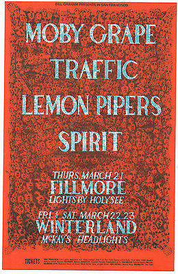 1968 MOBY GRAPE SPIRIT FILLMORE POSTCARD BG112 LEE CONKLIN amazing illustration