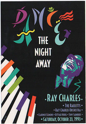 NICE MINT ORIGINAL 1993 RAY CHARLES SAN FRANCISCO CALIFORNIA CONCERT HANDBILL