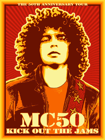 GORGEOUS MINT 2018 MC5 50TH ANNIVERSARY TOUR MC50 CONCERT TOUR POSTER CHUCK SPERRY JC100