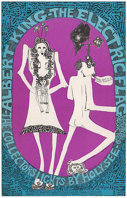 MINT 1968 ALBERT KING ELECTRIC FLAG COLLECTORS FILLMORE CONCERT POSTCARD BG117