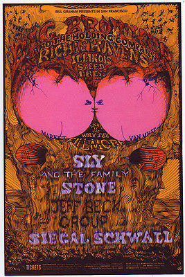 1968 BIG BROTHER AND THE HOLDING CO JANIS JOPLIN FILLMORE CONCERT POSTCARD BG129