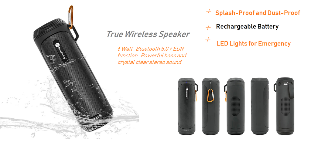 TRUE WIRELESS OUTDOOR BLUETOOTH SPEAKER