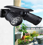 Super Bright Solar Outdoor Light with Double Turn-able Heads, IP44 Waterproof