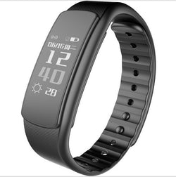 Waterproof Smart Fitness Band with Heart Rate Tracking in Black