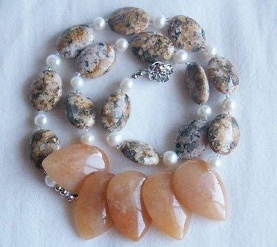 Ocean Jasper Nuggets Necklace