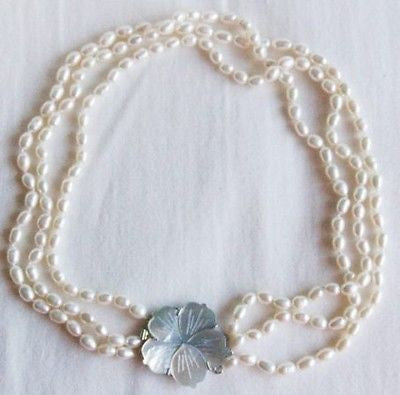 3 STRAND BAROQUE PEARL NECKLACE