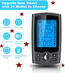 Rechargeable Tens Unit with 24 Modes, 10 Reusable Electrodes Pads and 20 Intensity Levels