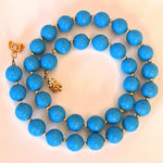 Turquoise Golden Beads Necklace