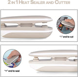 2 in 1 Mini Bag Sealer and Cutter Reseal Plastic Bags Food Storage Snack Bags