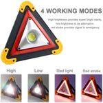 Weather proof  COB 30W 4 Modes Rechargeable LED Flashing Light  For Outdoor  Road side Assistance Emergency Red Hazard Warning