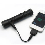 James Bond Style LED Flashlight Power Bank Car Charger