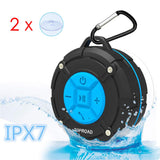 Portable Shower Speaker, IPX7 Waterproof Wireless Outdoor Speaker